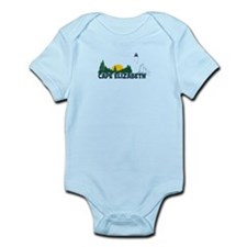 Cape Elizabeth ME - Beach Design. Infant Bodysuit