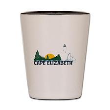 Cape Elizabeth ME - Beach Design. Shot Glass