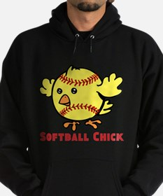 Softball Chick Hoodie (dark)