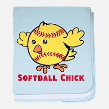 Softball Chick baby blanket