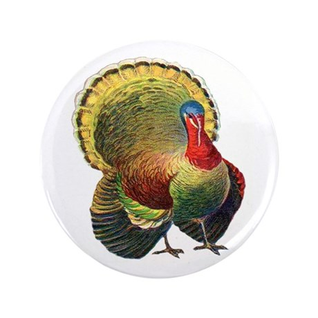 "Thanksgiving wild turkey.png 3.5"" Button (100 pack"