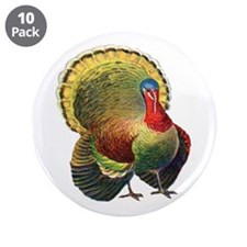 "Thanksgiving wild turkey.png 3.5"" Button (10 pack)"