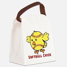 Softball Chick Canvas Lunch Bag