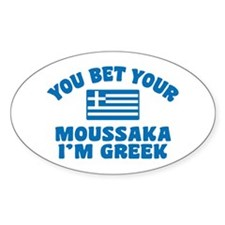 Funny Greek Moussaka Decal