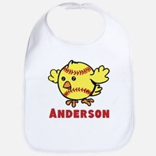 Personalized Softball Chick Bib