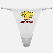 Personalized Softball Chick Classic Thong