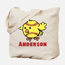Personalized Softball Chick Tote Bag