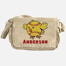 Personalized Softball Chick Messenger Bag