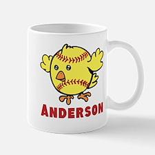 Personalized Softball Chick Mug