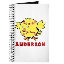 Personalized Softball Chick Journal