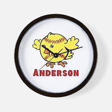 Personalized Softball Chick Wall Clock