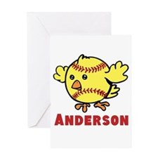 Personalized Softball Chick Greeting Card