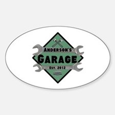 Personalized Garage Sticker (Oval)