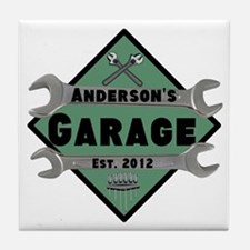 Personalized Garage Tile Coaster