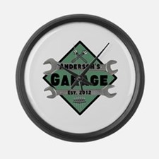 Personalized Garage Large Wall Clock