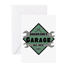 Personalized Garage Greeting Card
