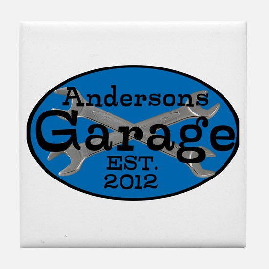 Personalized Garage Tile Coaster