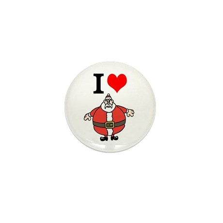 I Heart Santa Mini Button (100 pack)