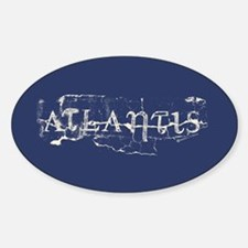 Atlantis Navy Sticker (Oval)