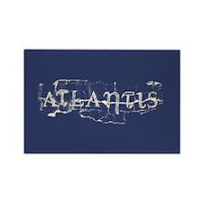 Atlantis Navy Rectangle Magnet