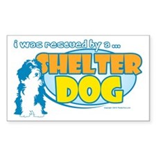 Rescued by Shelter Dog Decal