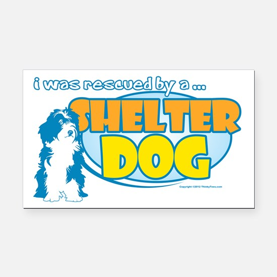Rescued by Shelter Dog Rectangle Car Magnet