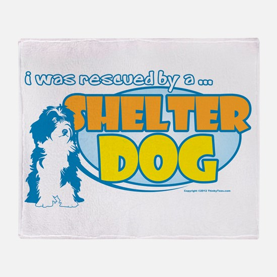 Rescued by Shelter Dog Throw Blanket