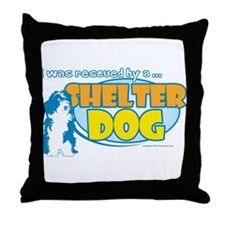 Rescued by Shelter Dog Throw Pillow