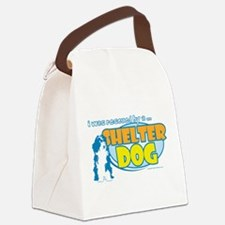 Rescued by Shelter Dog Canvas Lunch Bag