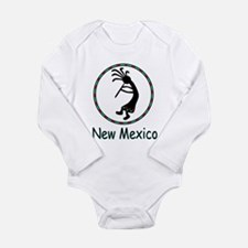 New Mexico kokopeli god Long Sleeve Infant Bodysui