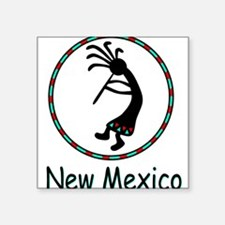"New Mexico kokopeli god Square Sticker 3"" x 3"""