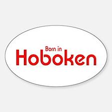 Born in Hoboken Oval Decal