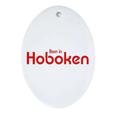 Born in Hoboken Oval Ornament