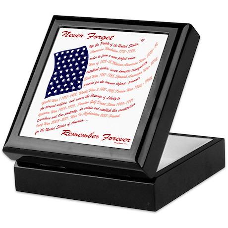 Veterans Memorial USA Keepsake Box