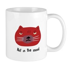 Not in the mood cat Small Mug