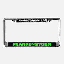 Frankenstorm License Plate Frame