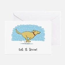 Labrador Snow Holiday Greeting Card