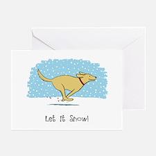 Labrador Snow Holiday Greeting Cards (Pk of 10)