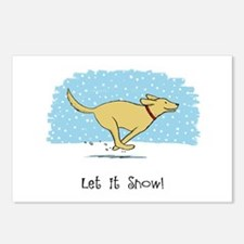 Labrador Snow Holiday Postcards (Package of 8)