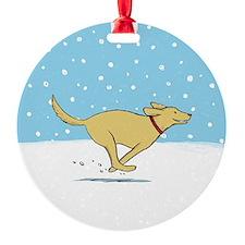 Labrador Snow Holiday Ornament