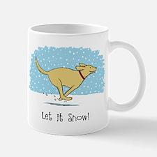 Labrador Snow Holiday Mug