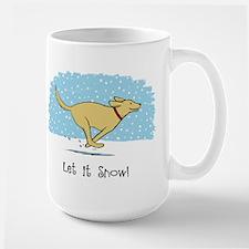 Labrador Snow Holiday Large Mug