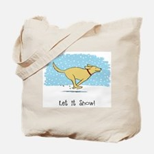 Labrador Snow Holiday Tote Bag