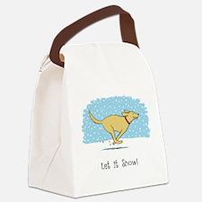 Labrador Snow Holiday Canvas Lunch Bag