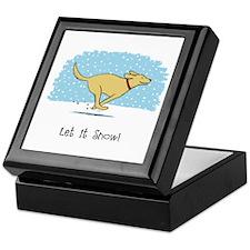 Labrador Snow Holiday Keepsake Box
