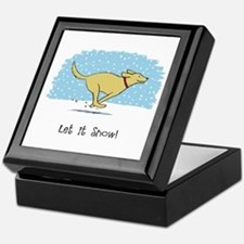 Labrador Snow Holiday Keepsake Box