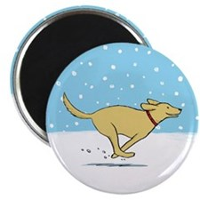 "Labrador Snow Holiday 2.25"" Magnet (100 pack)"