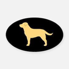 Yellow Labrador Oval Car Magnet
