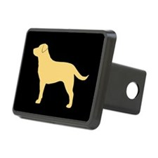 Yellow Labrador Rectangular Hitch Cover