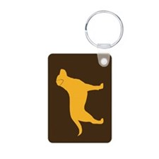 Yellow Lab Aluminum Photo Keychain